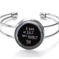 Supernatural A Ring of Salt Will Protect You Silver Plated Bracelet