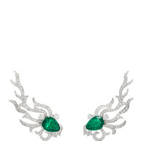 Zambia Emerald and Diamond Ear Climber | Moda Operandi