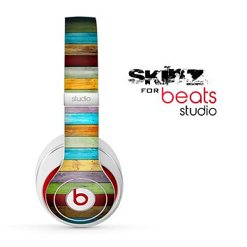 The Vintage Colored Wooden Planks Skin for the Beats Studio