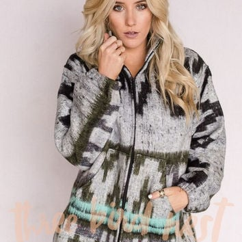 Santa Fe Zip Brushed Blanket Jacket