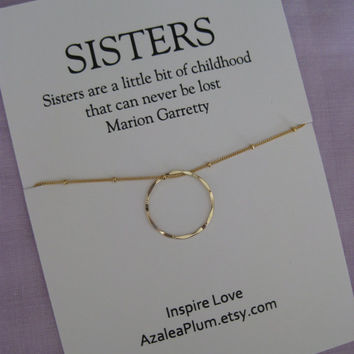 40th Birthday SISTERS Gift. 30th Birthday GOLD Eternity Circle Necklace. 50TH Birthday Sisters Necklace. 4 Sisters Necklace. 3 Sisters Gift