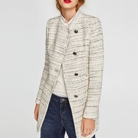 TEXTURED TWEED FROCK COAT DETAILS