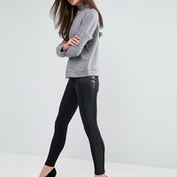 J Brand Mugu Leggings with Leather Sides at asos.com