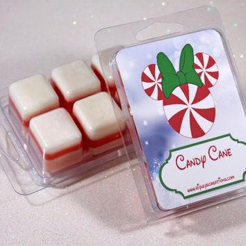 Disney, Wax Melts, Wax Tarts, Candy Cane Wax Melts, Candle, Disney Candle.