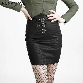 2016 Autumn Fashion Skirts Womens Vintage Punk Rave Tight A Line Casual Skirt