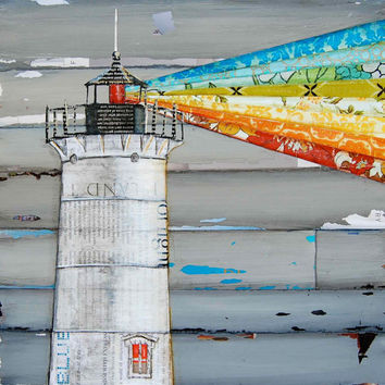 "Nubble Lighthouse in Maine - ""There is a Light That Never Goes Out"" - Fine Art Print 8x10"