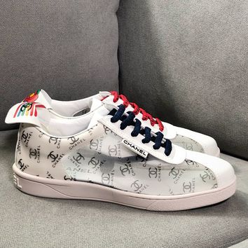 Kuyou Fa1973 Chan Sneakers With Flowers And Logos
