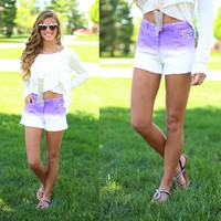 Fade Into Me Shorts in Lilac