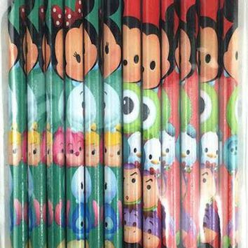 24 Pcs Disney Tsum Tsum  Wood Pencils Birthday Party Favors Bag Fillers - 2 DZ