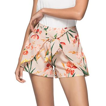 Fashion Women Summer Floral Print Beach Short Pants Workout Yoga Hot Shorts