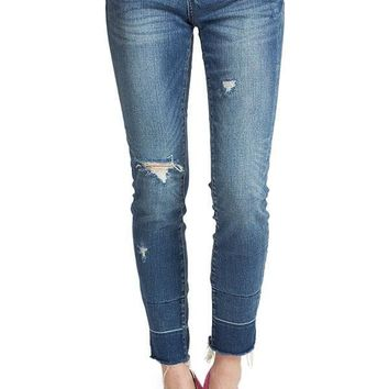 Blank NYC Blue Steel Raw Hem Jean