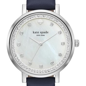 kate spade new york 'monterey' leather strap watch, 38mm | Nordstrom