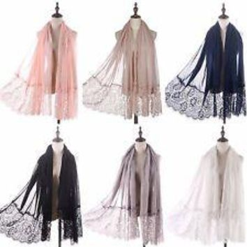 Lace Voile Scarf