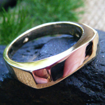 Solid Gold ring, beautiful as is or able to be set with a birth stone or engraved or personalized to your needs