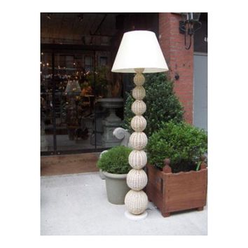 Wicker Ball Floor Lamp