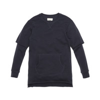 KITH Classics Frayed Thompson Crewneck - Navy