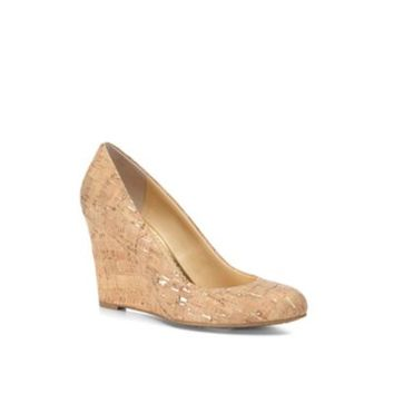 Women's Wedge Shoes - Almond Toe Cork Wedge | C. Wonder