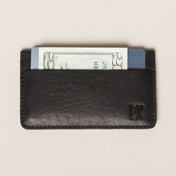 Jeffery Black Leather Card Holder