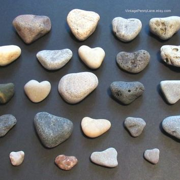 Lot of Heart Shaped Beach Pebbles, Rocks, Stones, Lake Ontario