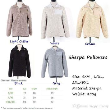 sherpa pullover Women off white fleece oversize jacket personalized winter outwear monogrammed
