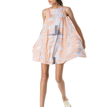 Mara Hoffman Ponte Swing Dress in Loom Peach