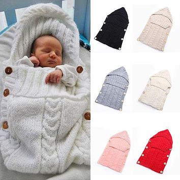 Newborn Baby Boy Girl Infant Swaddle Wrap Swaddling Blanket Sleeping Bag Solid Color