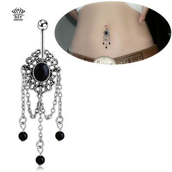 Trendy Stainless Steel Crystal Body Jewelry