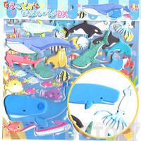 Large Whale Fish Stingray Shark Shaped Aquarium Themed Moveable Animal Puffy Stickers | 2 Sheets | Scrapbook Decorating Supplies from Japan