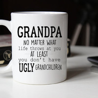 Funny Grandpa Gift, Ugly Children Mug, Fathers Day Mug, Gift for Grandpa, Fathers Day Gift, Coffee Mug, Grandpa Mug, Grandpa Coffee Mug,