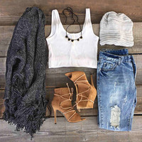 Cupshe After Midnight Tassel Casual Sweater Cardigan