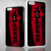 DEADPOOL LOGO BRUSH Z1241 iPhone 4S 5S 5C 6 6Plus, iPod 4 5, LG G2 G3 Nexus 4 5, Sony Z2 Case