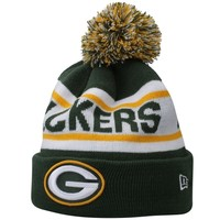 Mens Green Bay Packers New Era Green Biggest Fan Redux Knit Beanie
