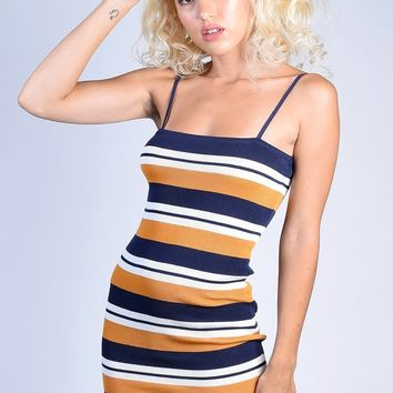 Cafe du Monde Stripe Dress