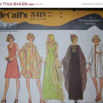 25% Off Uncut 1970's McCall's Sewing Pattern, 3414! Size 12 Women's, Dresses & Float, Summer/Spring/Fall Casual/Formal, Sleeveless, float sl