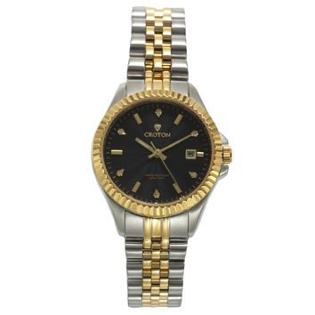 Croton Womens Stainless steel  Two Tone Diamond Marker Watch