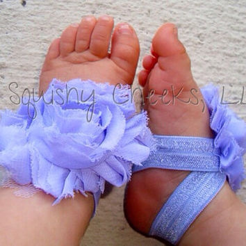 Lilac Piggy Petals - ADORABLE Toe Bloom Baby Barefoot Sandals - Baby Shoes