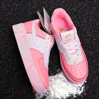 DCCK2 N294 Nike Air Force 1 Upsep AF1 Low Casual Running Shoes Pink White