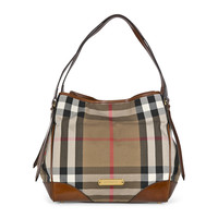 Burberry Bridle House Check Small Canterbury Tote - Dark Tan