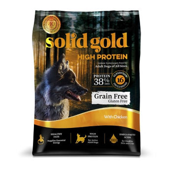 SOLID GOLD DOG DRY - HIGH PROTEIN GRAIN FREE DOG CHICKEN - 22LB - SOLID GOLD - UPC: 93766190221 - DEPT: OTHER PET FOODS