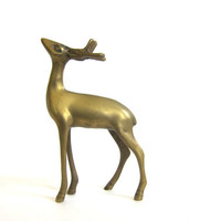 20% OFF SALE Vintage brass deer / reindeer figurine