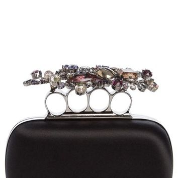 Alexander McQueen Jewel Flower Knuckle Box Clutch | Nordstrom