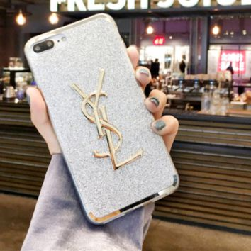 YSL print phone shell phone case for Iphone 6/6s/6p/7p/7/8/8p/x