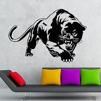 Wall Stickers Vinyl Decal Aggressive Predator Panther Animal Tribal Unique Gift (ig1780)