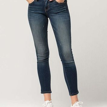 FLYING MONKEY Tinted Womens Ankle Skinny Jeans | Ankle