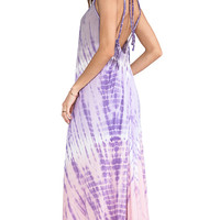 Tiare Hawaii Coco Low Scoop Back Maxi Dress in Purple