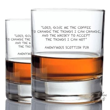 Scotch Lovers Engraved Personalized Whiskey Glasses