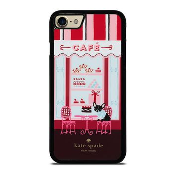 KATE SPADE NEW YORK CAFE iPhone 4/4S 5/5S/SE 5C 6/6S 7 8 Plus X Case