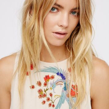 Free People Love Birds Fringe Top