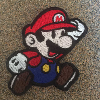Paper Hero Video Game Iron on or sew on Patches