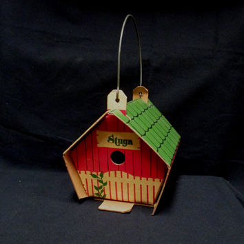 Vintage Stuga Birdhouse Cardboard Wren House Plastic Coated Duraboard by Feather Hill  Industries Zenda Wisconsin